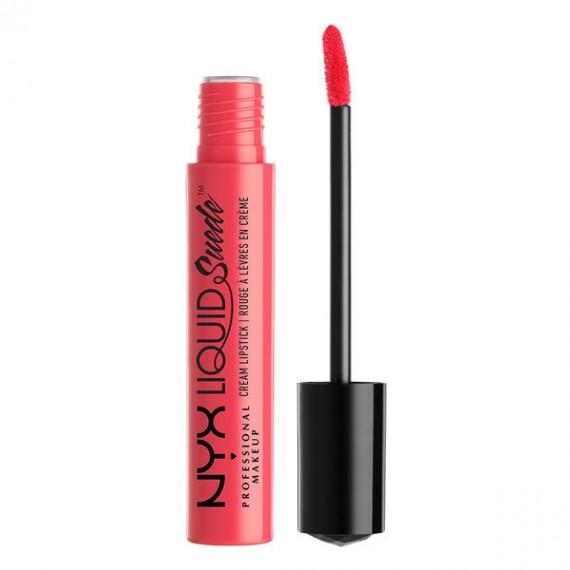NYX Liquid Suede Cream Lipstick- Life's A Beach-0