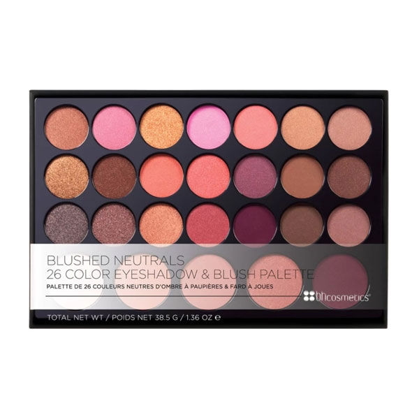 BH Cosmetics Blushed Neutrals - 26 Color Eyeshadow and Blush Palette-2838
