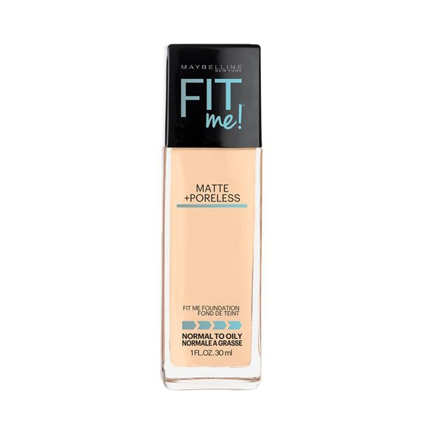 Maybelline Fit Me Matte + Poreless Foundation- Warm Nude 128