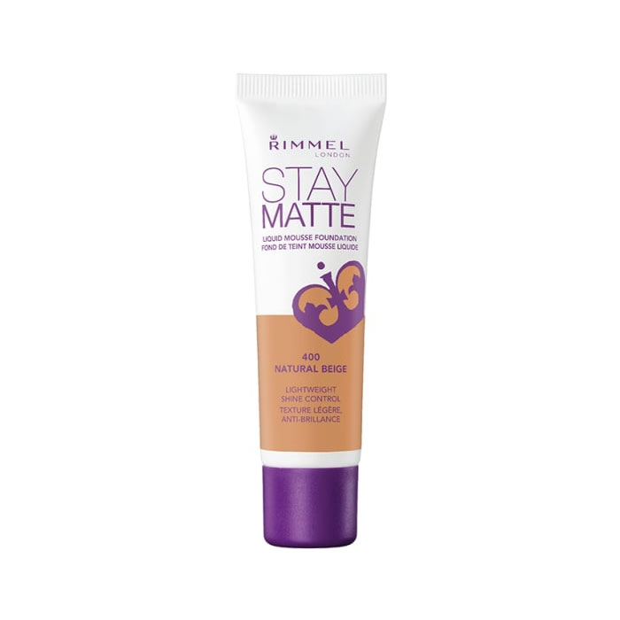 Rimmel Stay Matte Liquid Mousse Foundation- Natural Beige 400