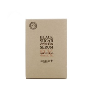 SKINFOOD Black Sugar Perfect First Serum Cotton Pad-0