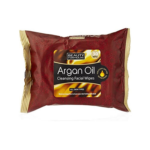 Beauty Formulas Argan Oil Cleansing Facial Wipes-0