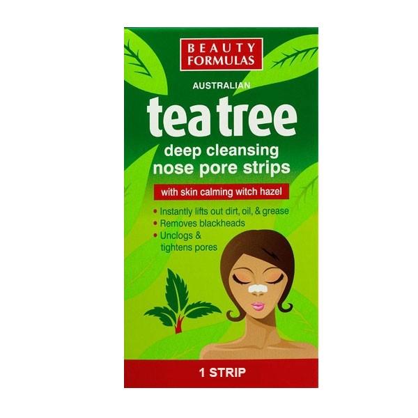 Beauty Formulas Tea Tree Deep Cleansing Nose Pore Strip