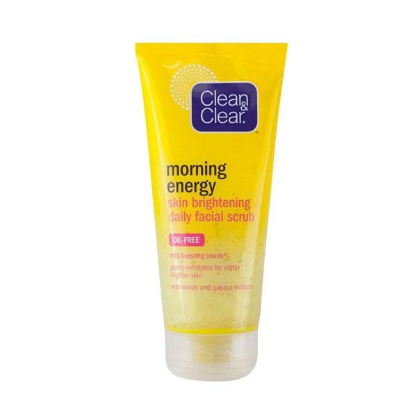 Clean & Clear Morning Energy Skin Brightening Daily Facial Scrub-0