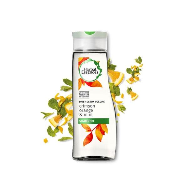 Herbal Essences Daily Detox Volume Crimson Orange & Mint Shampoo-4113