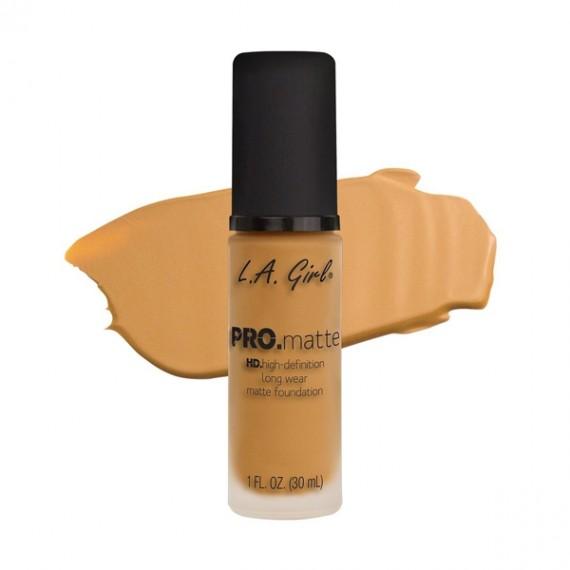 L.A. Girl PRO Matte Foundation - GLM677 Soft Honey-0