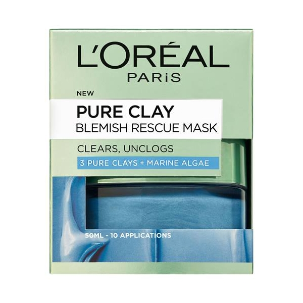 L'Oreal Pure Clay Blemish Rescue Mask-4525