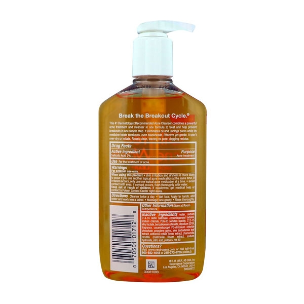 Neutrogena Oil Free Acne Wash-3834