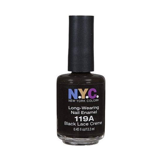 NYC Long Wearing Nail Enamel – Black Lace 119