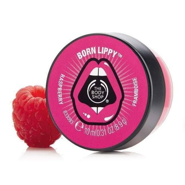 The Body Shop Born Lippy Pot Lip Balm - Raspberry-4753
