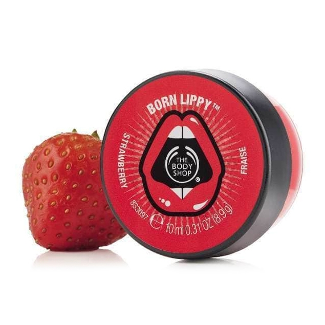 The Body Shop Born Lippy Pot Lip Balm - Strawberry-4749
