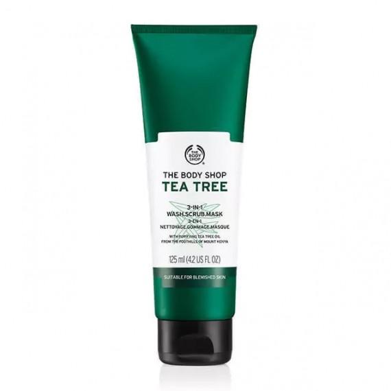 The Body Shop Tea Tree 3-in-1 Wash Scrub Mask-0