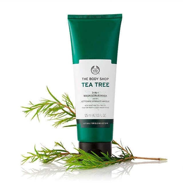 The Body Shop Tea Tree 3-in-1 Wash Scrub Mask-4568