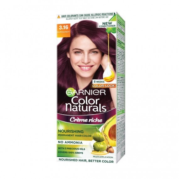 Garnier Color Naturals Shade 3.16 Burgundy 60ml+50g-0
