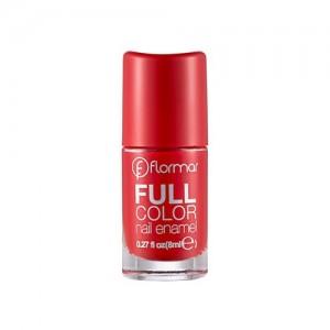 Flormar Full Color Nail Enamel - FC08 Optimistic Red-0