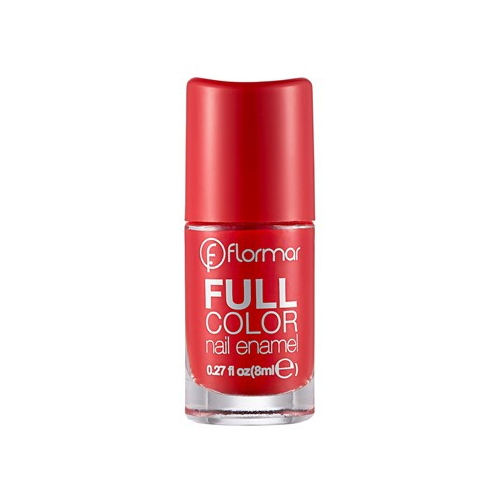 Flormar Full Color Nail Enamel - FC08 Optimistic Red-0