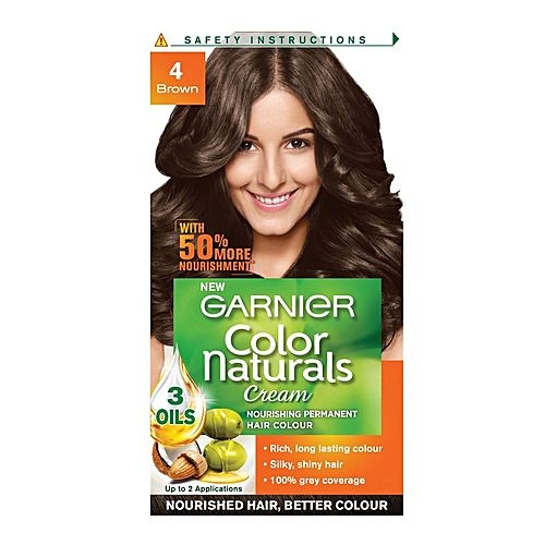 Garnier Color Naturals Shade 4 Brown 60ml + 50g-0