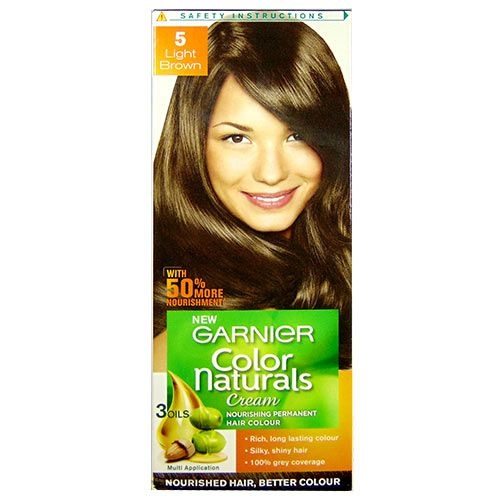 Garnier Color Naturals Shade 5 Light Brown 60ml + 50g-0