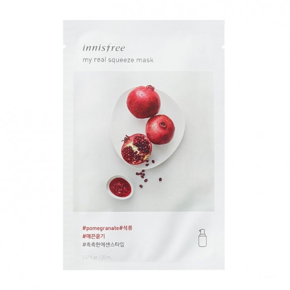 Innisfree My Real Squeeze Mask - Pomegranate-0