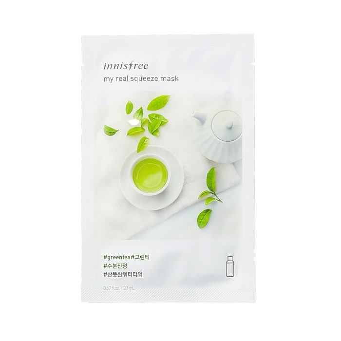 Innisfree My Real Squeeze Mask - Green Tea-0