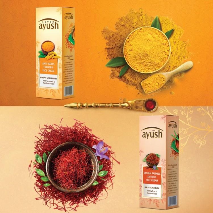 Lever Ayush Face Cream Natural Fairness Saffron -8205