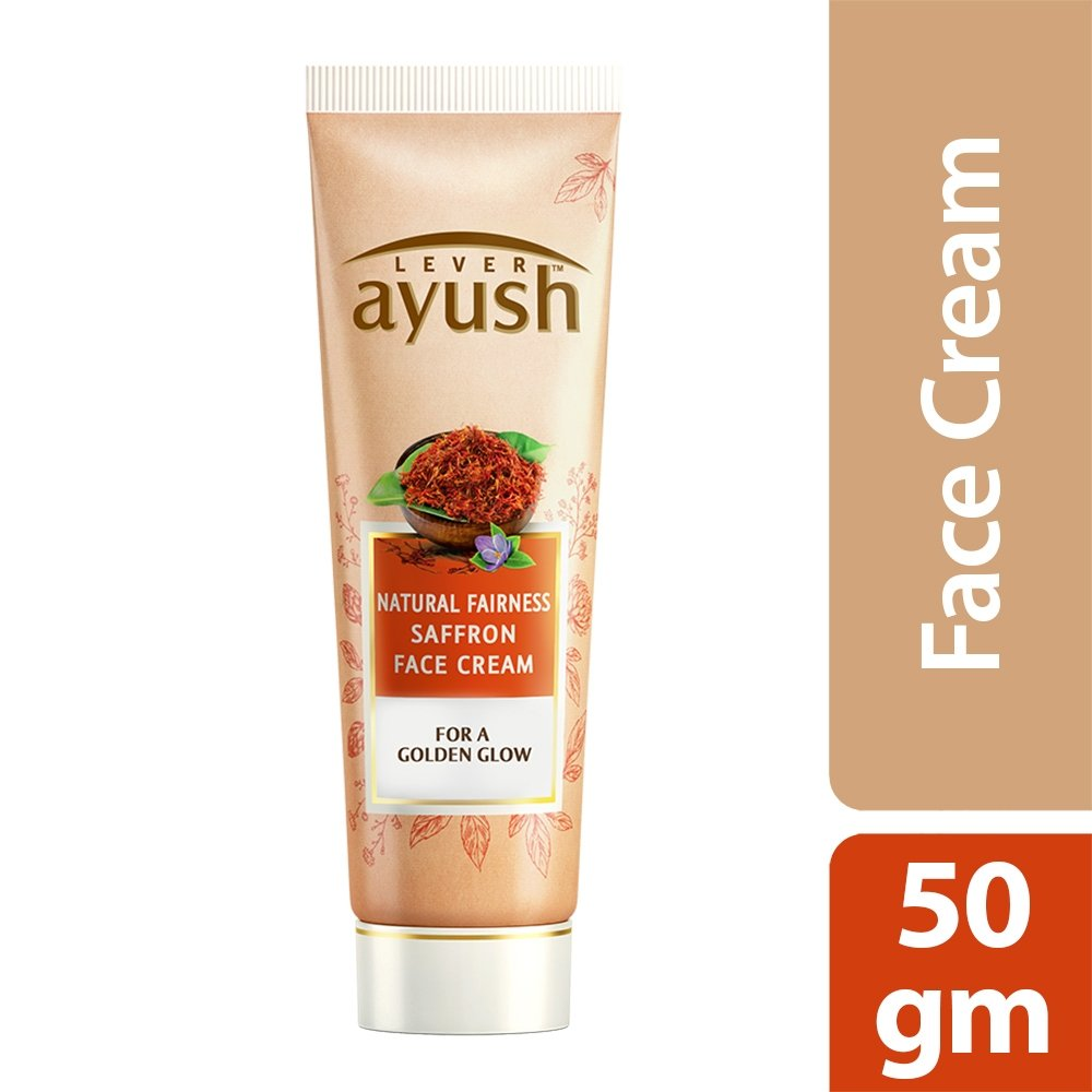 Lever Ayush Face Cream Natural Fairness Saffron -0