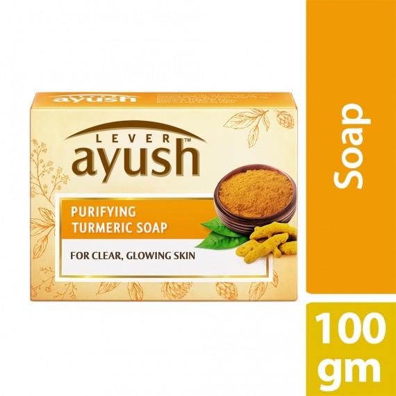 Lever Ayush Soap Bar Natural Purifying Turmeric -0