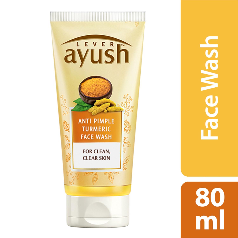 Lever Ayush Face wash Anti Pimple Turmeric-0