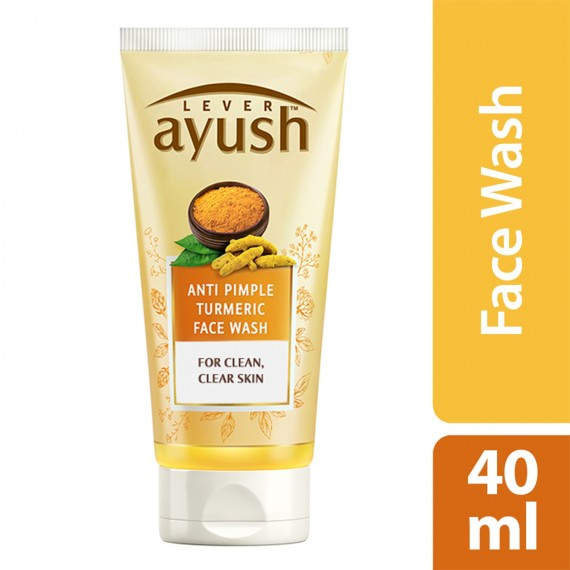 Lever Ayush Face wash Anti Pimple Turmeric -0