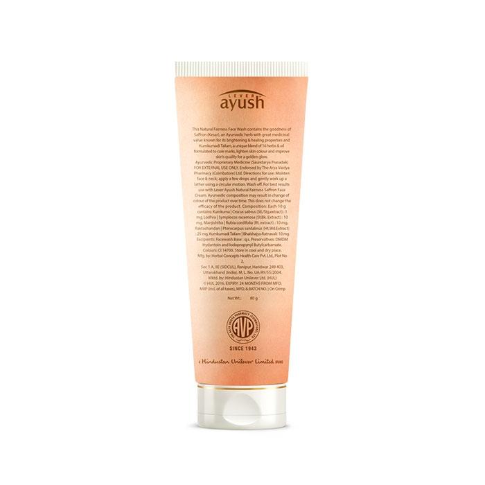 Lever Ayush Face wash Natural Fairness Saffron -6726