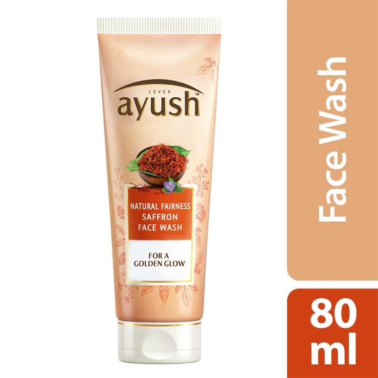 Lever Ayush Face wash Natural Fairness Saffron -0