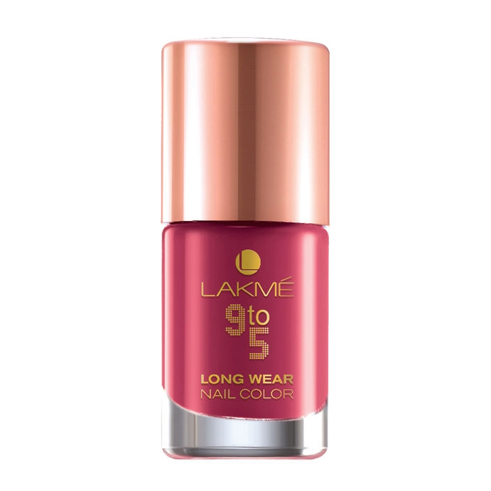 Lakme 9 to 5 Long Wear Nail Color - Berry Business -0