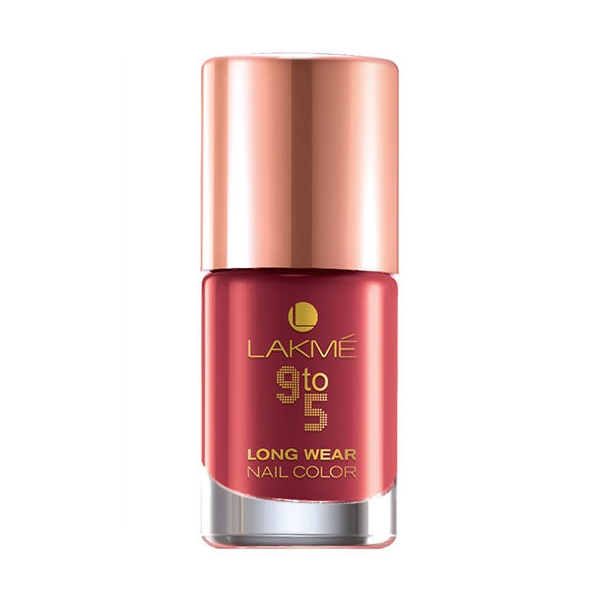 Lakme 9 to 5 Long Wear  Nail Color – Red Alert