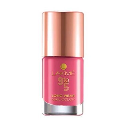 Lakme 9 to 5 Long Wear Nail Color – Rose Rush