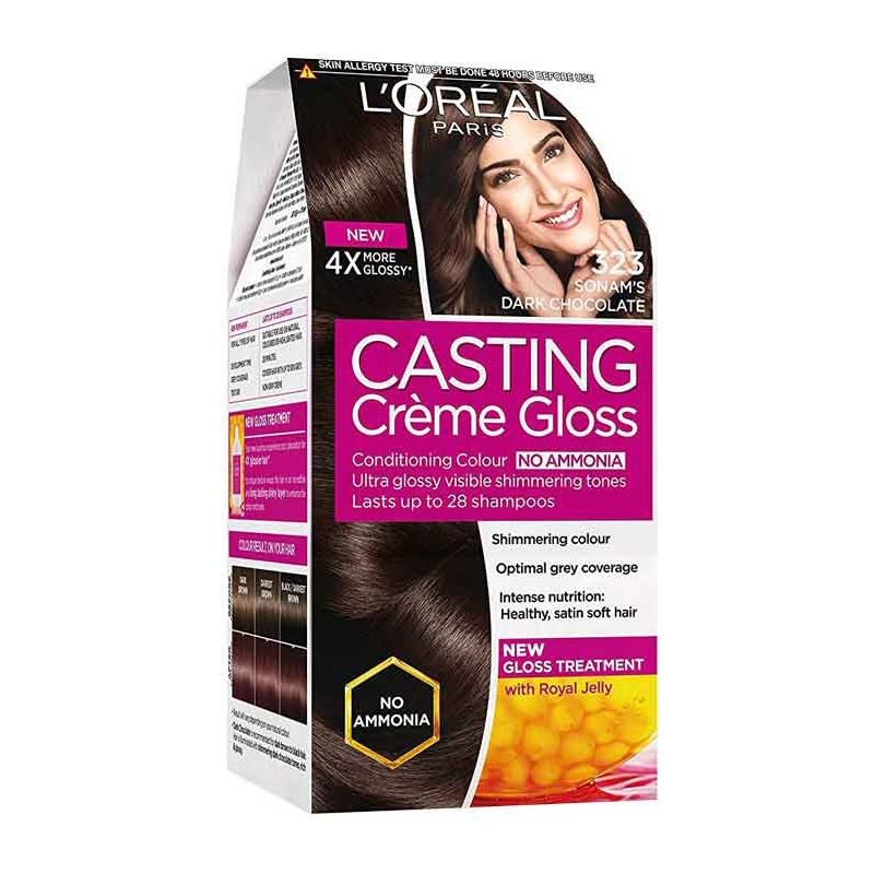 L'Oréal Paris Casting Creme 323 Dark Chocolate-0