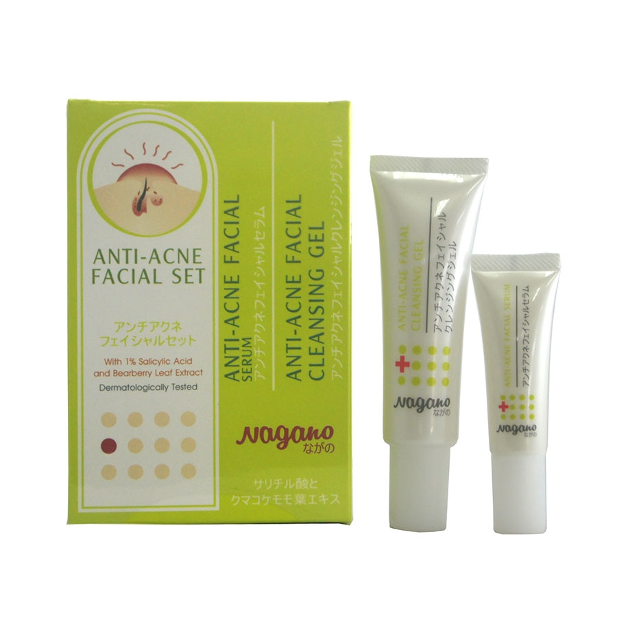 Nagano Anti-Acne Facial Set (Serum & Cleansing)