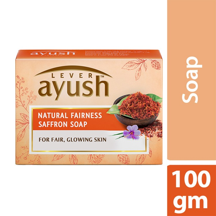 Lever Ayush Soap Bar Natural Fairness Saffron -0