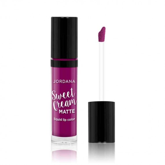 Jordana Sweet Cream Matte Liquid Lip Color 10 Sugared Plum-0