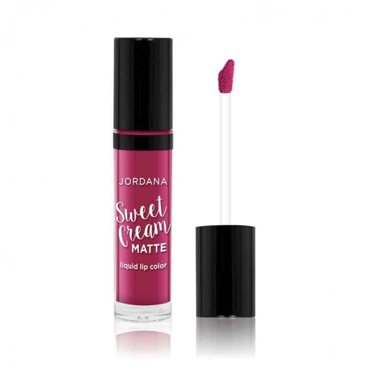 Jordana Sweet Cream Matte Liquid Lip Color 25 Sugarberry Crumble-0