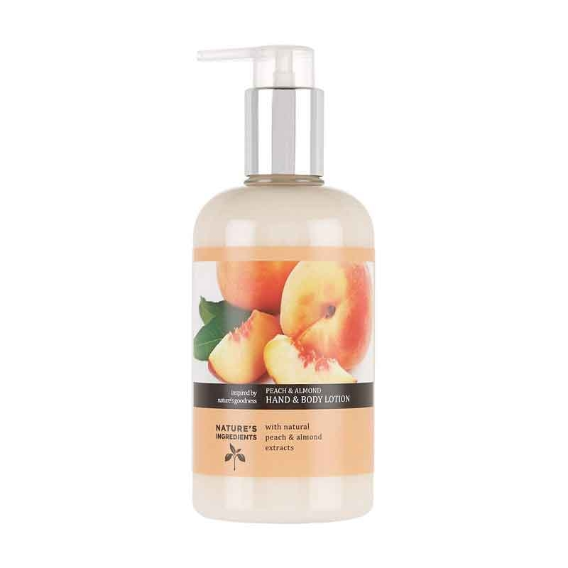 M&S Nature's Ingredients Peach And Almond Hand And Body Lotion-0