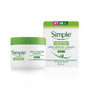 Simple Kind To Vital Vitamin night Cream-0