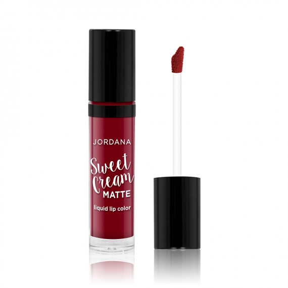 Jordana Sweet Cream Matte Liquid Lip Color 11 Red Velvet Cake-0