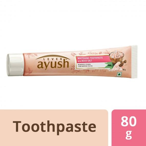 Lever Ayush Toothpaste Whitening Rock Salt -0