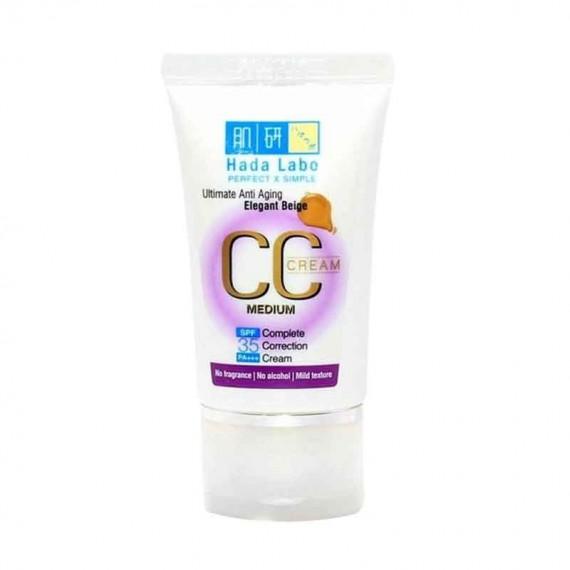 Hada Labo Ultimate Anti Aging CC Cream Medium - Elegant Beige -0