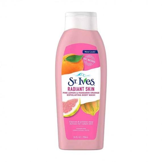 St. Ives Pink Lemon & Mandarin Orange Radiant Skin Exfoliating Body Wash-0