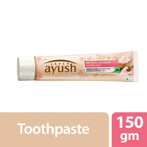 Lever Ayush Toothpaste Whitening Rock Salt -0