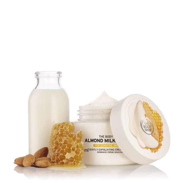 The Body Shop Almond Milk & Honey Gently Exfoliating Cream Scrub-8136