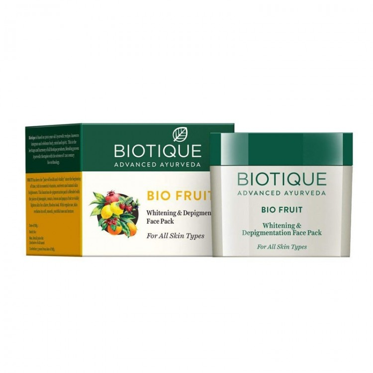 Biotique Bio Fruit Whitening And De-pigmentation Face Pack For All Skin Types-0