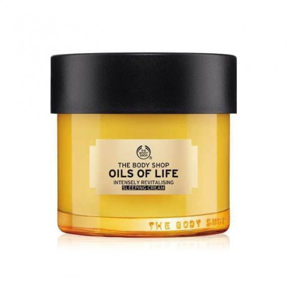The Body Shop Oils Of Life Intensely Revitalising Sleeping Cream-0