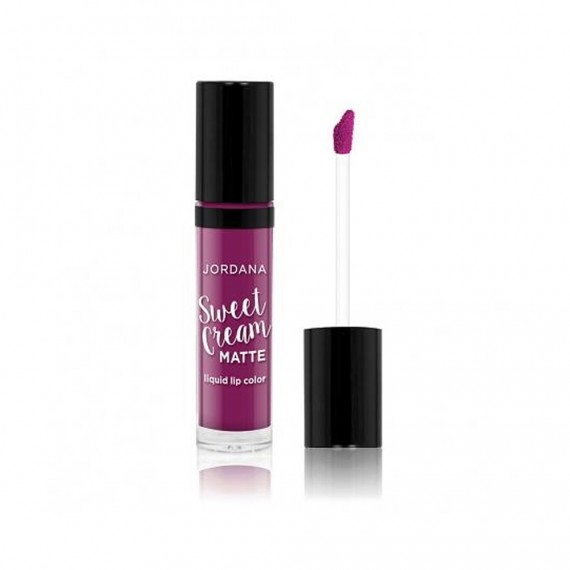 Jordana Sweet Cream Matte Liquid Lip Color - 26 Current Jam-0